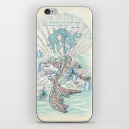 Anais Nin Mermaid [vintage inspired] Art Print iPhone Skin