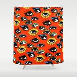 60s Eye Pattern Shower Curtain