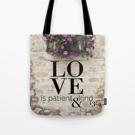 True Love  //  I Corinthians 13:4 Tote Bag