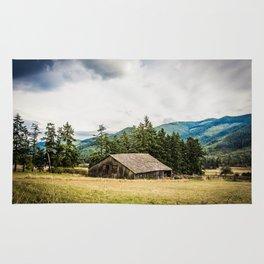 Hay Barn, Valley Near Blyn, Washington Rug