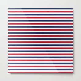 Navy Stripes Metal Print