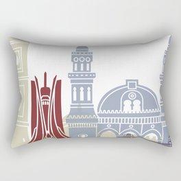 Algiers skyline poster Rectangular Pillow
