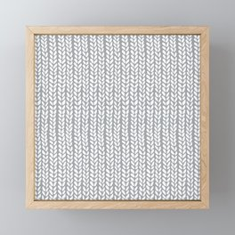 Knit Wave Grey Framed Mini Art Print