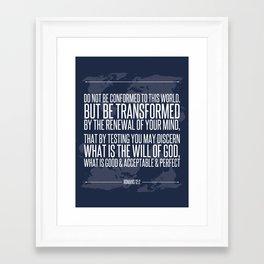 Romans 12:2 Framed Art Print