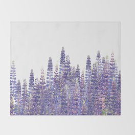 Just Lupine Throw Blanket