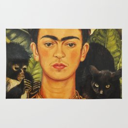 Frida Kahlo Self-Portrait Thorn Necklace and Hummingbird Rug