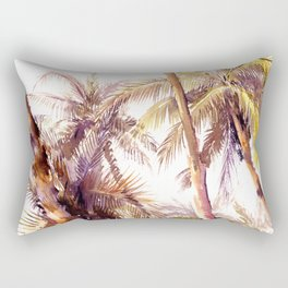 Palm Trees, Hawaii Rectangular Pillow