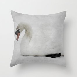 The Ancient Swan Throw Pillow