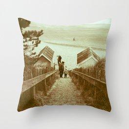 Beach Stairs Throw Pillow