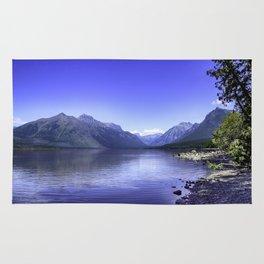 McDonald Lake In Glacier National Park Rug