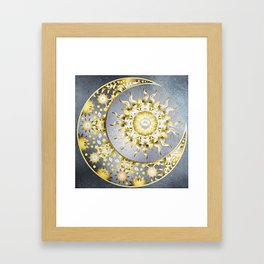 Golden Moon and Sun Framed Art Print