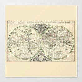 Antique Map from 1691, Sanson Canvas Print