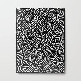Writing on the Wall Metal Print