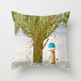 an autumns day Throw Pillow