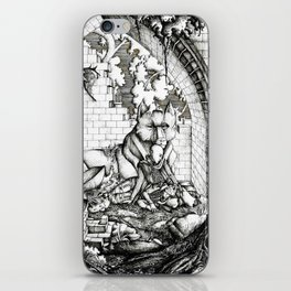 Lovers in the ruins iPhone Skin