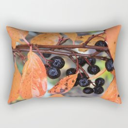 Choke Berries in Autumn Rectangular Pillow