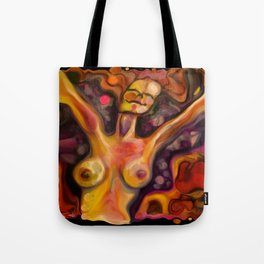 """""""Happiness Colorful Woman"""" Tote Bag"""