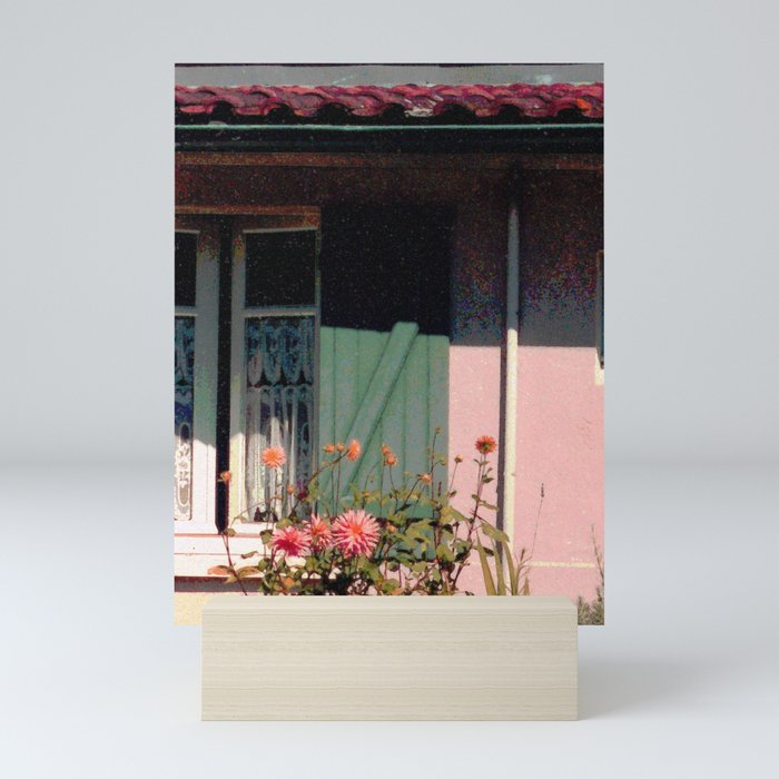 Cottage with Flowers Mini Art Print