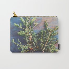 Hemlock on Blue Table Carry-All Pouch