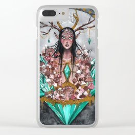 Crystal Fae Witch Clear iPhone Case