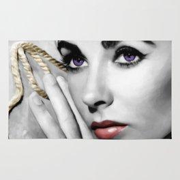 Elizabeth Taylor Portrait Rug