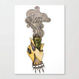 Go Smudge Yourself Canvas Print
