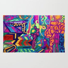 Brilliant Colors and Shapes Rug