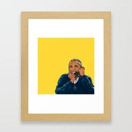 A Barry important call Framed Art Print