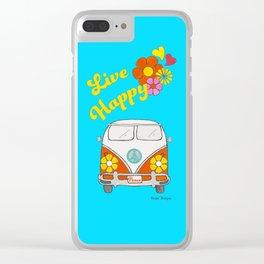 Live Happy Van Clear iPhone Case
