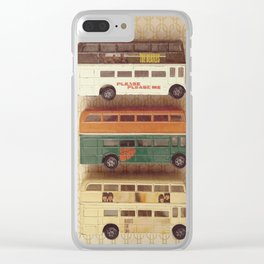 Fab Four Toy Buses Clear iPhone Case