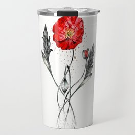 Red Poppy Travel Mug