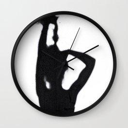 Shadow Hair Pulling Wall Clock