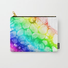 Watercolor rainbow abstract bubble splashing paint isolated on white background Carry-All Pouch