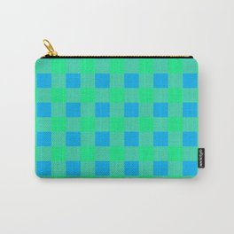 Blue and Green Buffalo Check Carry-All Pouch