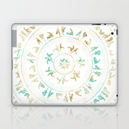 Kama Sutra Mandala Blue and Gold Laptop & iPad Skin