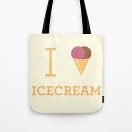 I heart Icecream Tote Bag