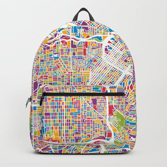 Houston Texas City Street Map Backpack
