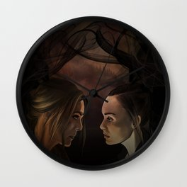I'm so so sorry // our demons are alike // abby & raven Wall Clock