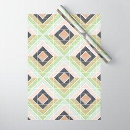 Retro Mod Diamonds Wrapping Paper