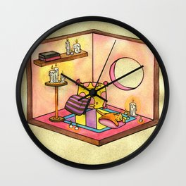 Cat's Cuddly Cube Room Wall Clock