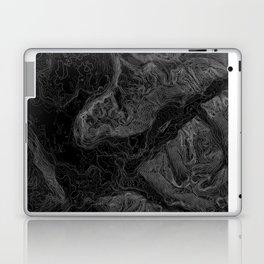 NORTH BEND WA TOPO MAP - DARK Laptop & iPad Skin