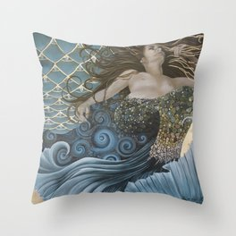Mermaid Bliss Throw Pillow