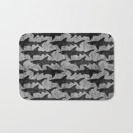 Gray and Black Shark Pattern Bath Mat