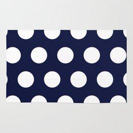 Navy Dots Rug