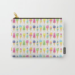 ice cream pattern art Carry-All Pouch