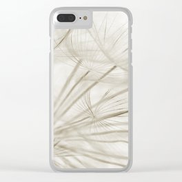 Dandelion Neutral Closeup Clear iPhone Case