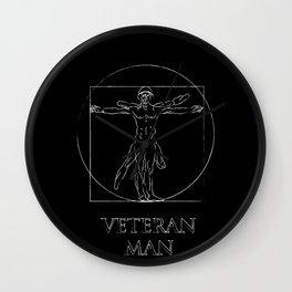 Veteran Man Wall Clock