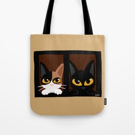 Lovely two cats Tote Bag