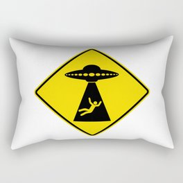 Alien Abduction Safety Warning Sign Rectangular Pillow