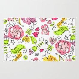 Watercolor Garden Rug